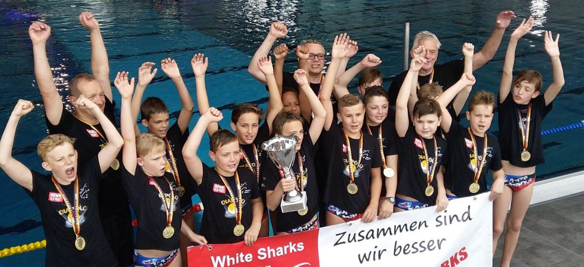 U12 der White-Sharks gewinnt deutschen Pokal 2019 in Nürnberg